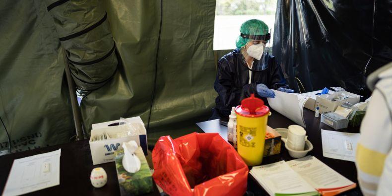 Studenti Lékařské fakluty MU pomáhali při jarním nouzovém stavu například při testování.