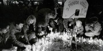 Náměstí Svobody v roce 1989.