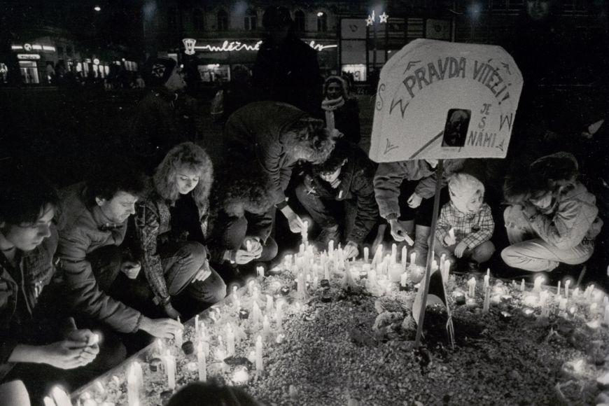 Historical picture form November 1989 when Velvet Revolution started.