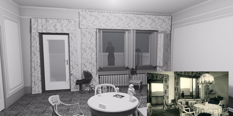 K vytvoření herních scén se používaly nejen současné fotografie umožňující věrně ztvárnit vilu Stiassni, ale také historické fotky.