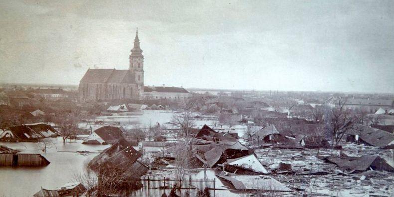 Velké povodně na řece Tise v roce 1879.