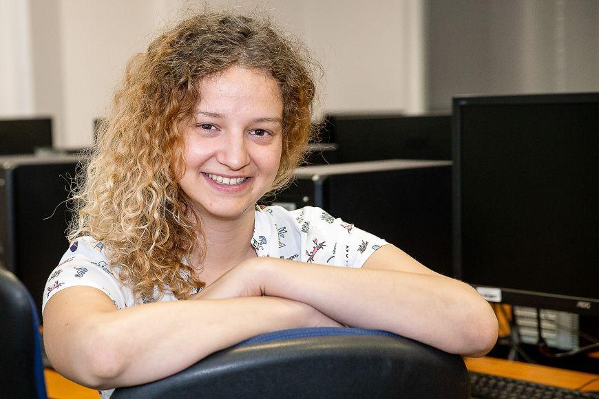 Na informatiku se Zuzana přihlásila stím, že ji baví matematika, ale třeba zprogramování uměla jen základy.
