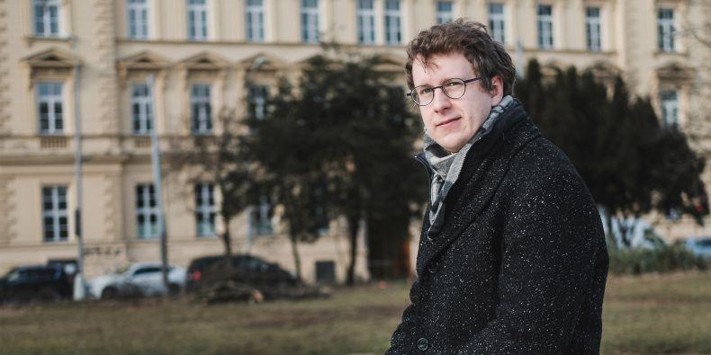 Petr Kalíšek z Odboru výzkumu Rektorátu MU.