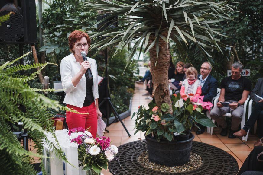 Ředitelka CTT Eva Janouškovcová při zahájení činnosti platformy Spin-off.
