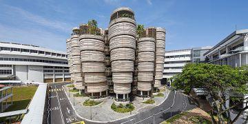 Jedna z ikonických staveb Singapuru posledních let. Learning Hub na Nanyang Technological University.