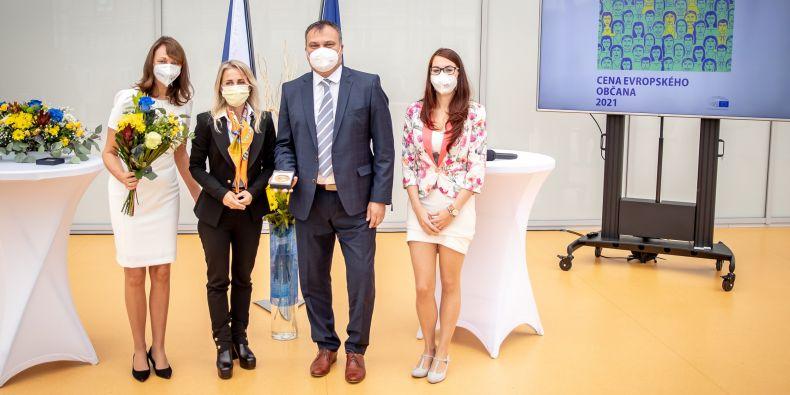 Předání Ceny evropského občana.