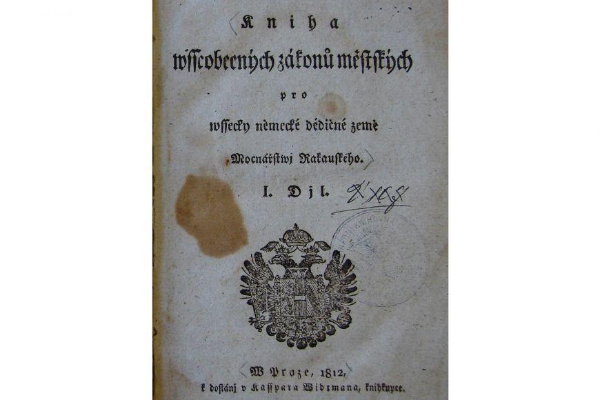 Obecný zákoník občanský (ABGB) včeské verzi.