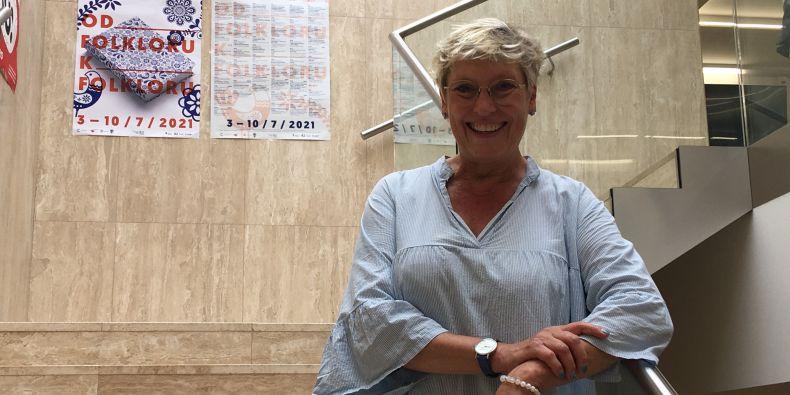 Studentka Letní školy slovanských studií Birgitte Schmidt z Dánska.