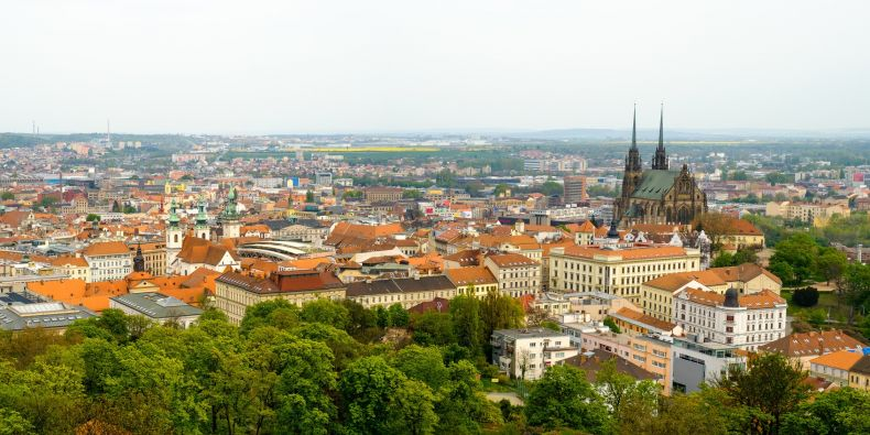 Brno, home of Masaryk University.