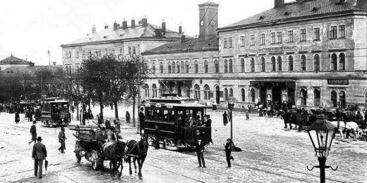 Brněnské hlavní nádraží na počátku 20. století.