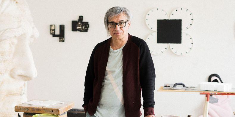 Formu, podle které se plastika Skácela dělala, má Jiří Sobotka pořád v ateliéru. Bude i na speciální výstavě.