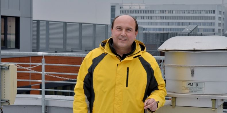 Project manager Pavel Čupr at the sampling site on the Bohunice campus.