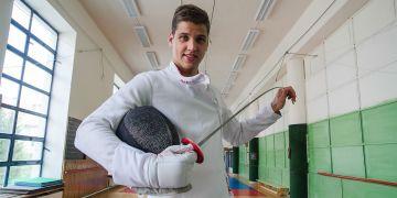 Student fakulty sportovních studií Alexander Choupenitch.