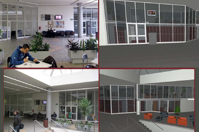 Rekonstrukce čeká iprostory vestibulu ESF.