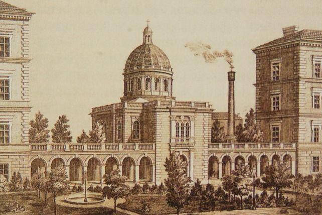 Ze Zaopatřovacího ústavu se vroce 1863 vyvinul Zemský ústav ao několik let později bylo rozhodnuto ojeho přestavbě. Foto: Archiv FNUSA.