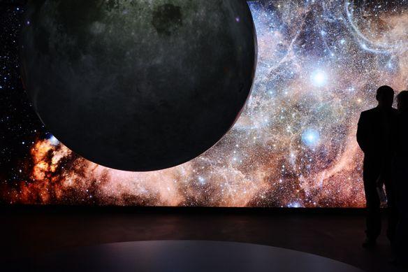 Suterén hvězdárny vyplňuje nové exploratorium svýstavou nazvanou Příběh Sluneční soustavy.