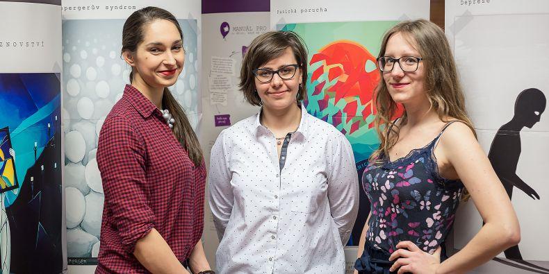 Autorky výstavy Zuzana Špačková, Tereza Ondráčková a Karolína Kryštofová.