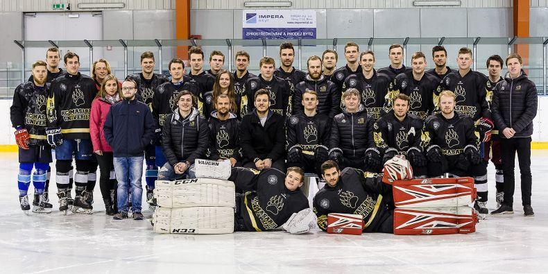 Kompletní sestava HC Masaryk University minulé sezony.