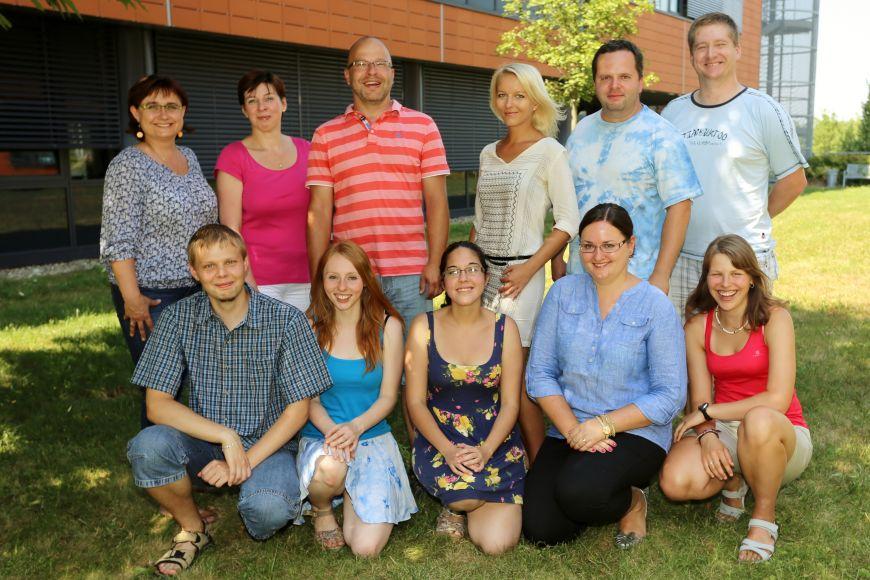 Výzkumná skupina Cytogenomika rostlin zCeitecu MU, červenec 2013.