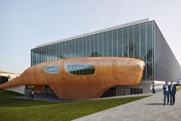 Centrum nabídne expozice rozdělené do čtyř tematických celků: planeta, civilizace, člověk amikrosvět. Vizualizace: MSCB.