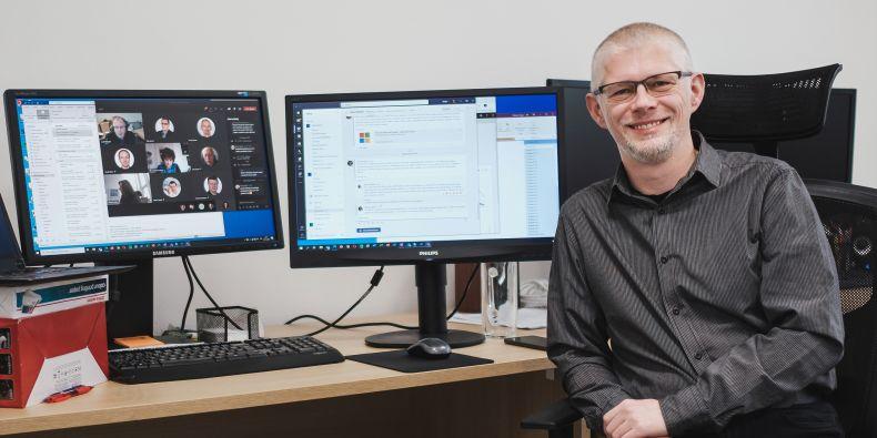 Břetislav Regner z Ústavu výpočetní techniky.