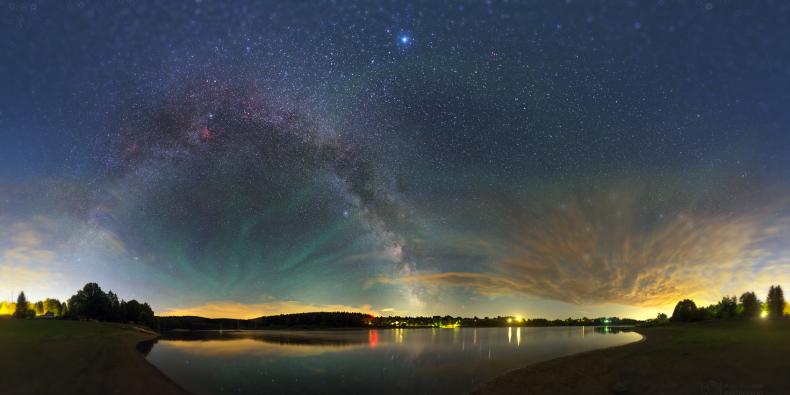 Mléčná dráha při pohledu ze Země.