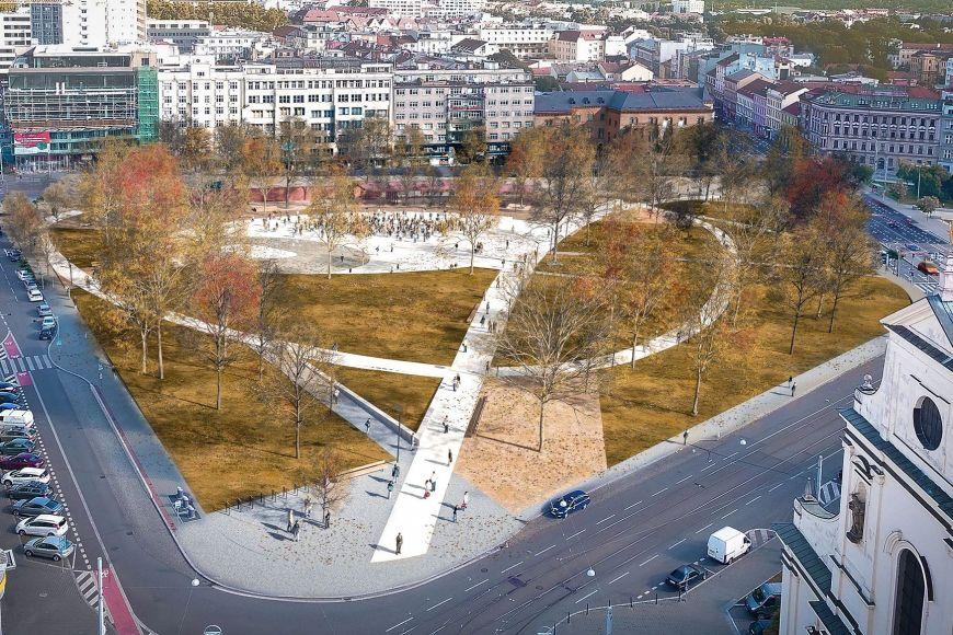 Zcela novou podobu získá Moravské náměstí, jehož rekonstrukce by měla začít vroce 2018.