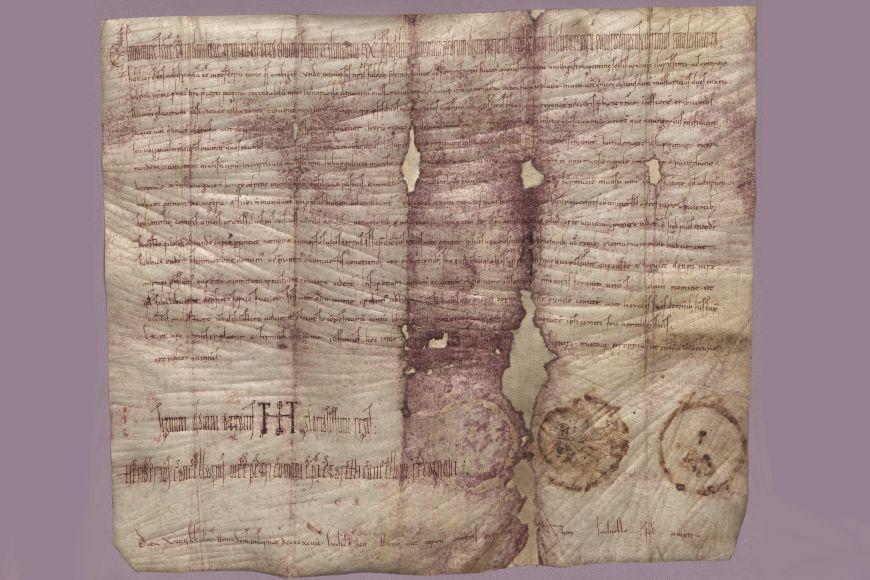 Listina Oty III. pro Rambalda II. zroku 994, nejstarší dochovaná listina na českém území.