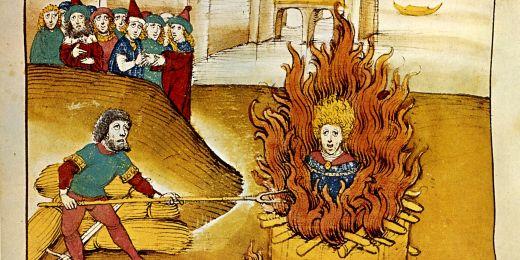 Zobrazení upálení Mistra Jana Husa ze Spiezer Chronik.
