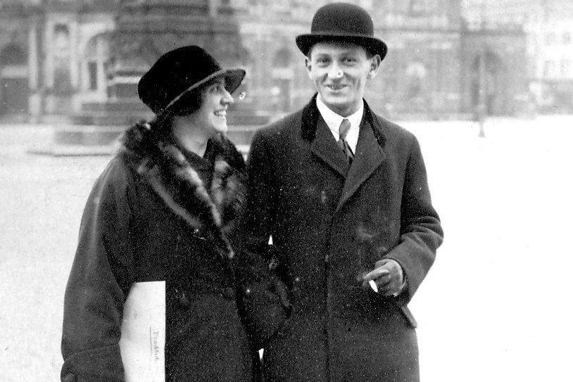 Viktor Mauthner (1894-1944) and his wife Anna, born Vohryzek.