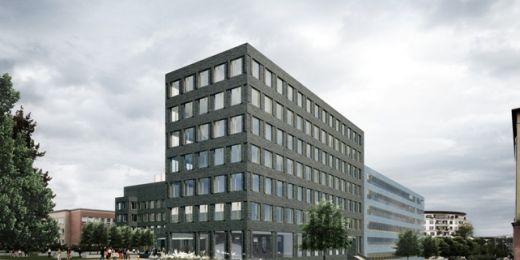 Pro potřeby vědecko-technického parku a podnikatelského inkubátoru bude postavena nová sedmipatrová budova A2 (prodloužení budovy C na jihozápadním nároží) a kryté parkoviště. Vizualizace pohledu z rohu ulic Botanická a Hrnčířská.