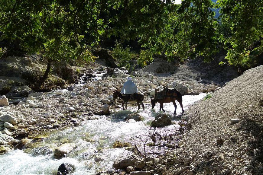 Albánský venkov se dlouhodobě vylidňuje amístní přežívají jen skromně.