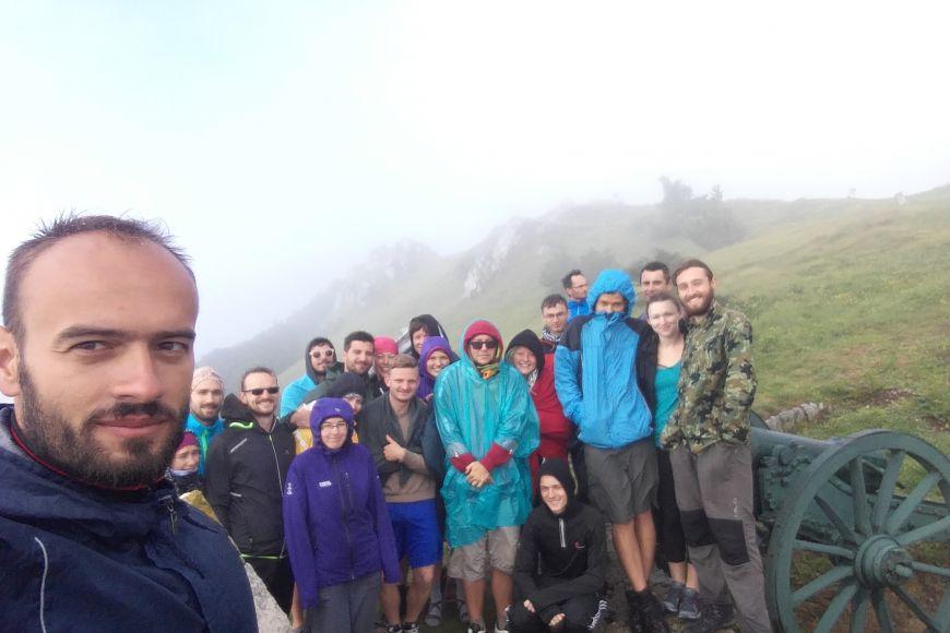 Část účastníků expedice 2018 uprůsmyku Šipka.
