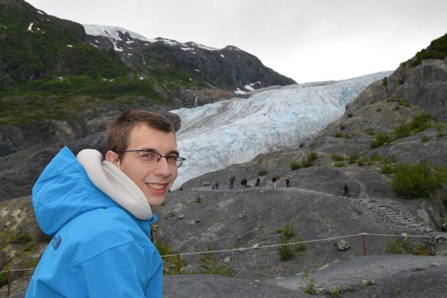 U ledovce Exit Glacier vnárodním parku Kenai Fjords.
