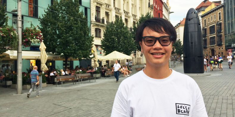 """""""At my Hong Kong university, it's almost impossible for teachers to pay attention to individual students. But the summer school was different."""" Says Alvin."""