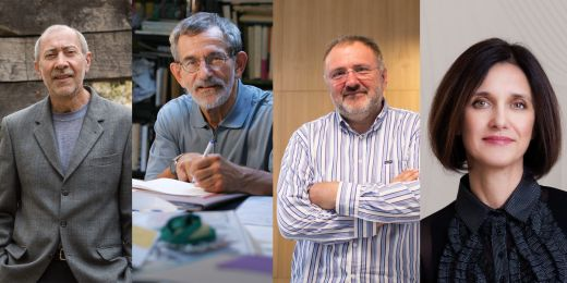 Zleva: Jiří Poláček, Miloš Štědroň, Jiří Zlatuška a Kateřina Šimáčková.