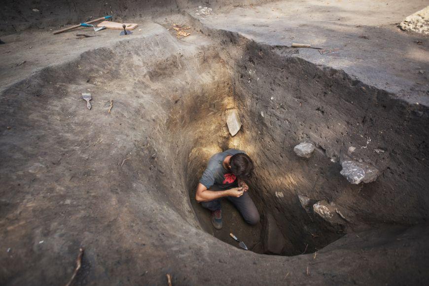 Nejslibnější objev letošního roku - studna. Archeologové si od ní slibují hodně nových informací.
