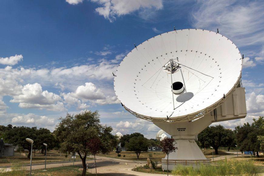 European Space Astronomy Centre ve Villanueva de la Cañada, blízko Madridu.
