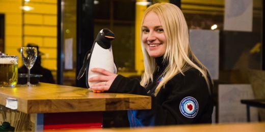 Barbora Chattová využila jako rekvizitu plyšového tučňáka.
