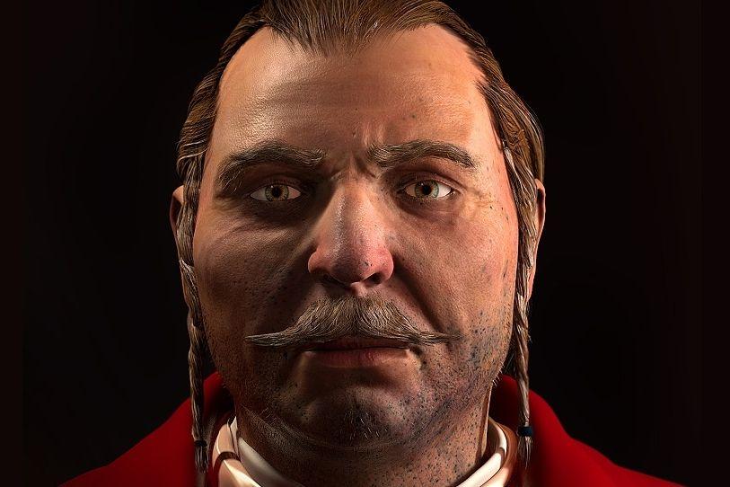 Počítačový model tváře barona Trencka. Velitel pandurů měl vobličeji takzvané prachové tetování, tedy hluboko do kůže zarostlé stopy po výbuchu střelného prachu.