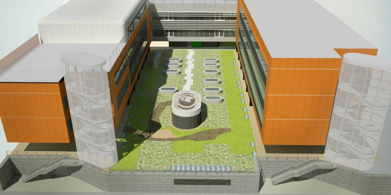 Biobanka bude pod zemí mezi pavilony Recetoxu a Inbitu.