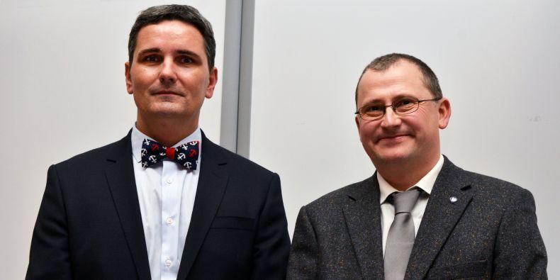 Kandidáti na děkana Přírodovědecké fakulty MU Luděk Bláha a Tomáš Kašparovský.