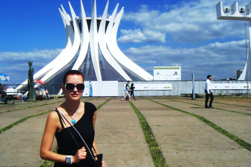Ikonická katedrála ve městě Brasília. Foto: Archiv V. Zemanové.