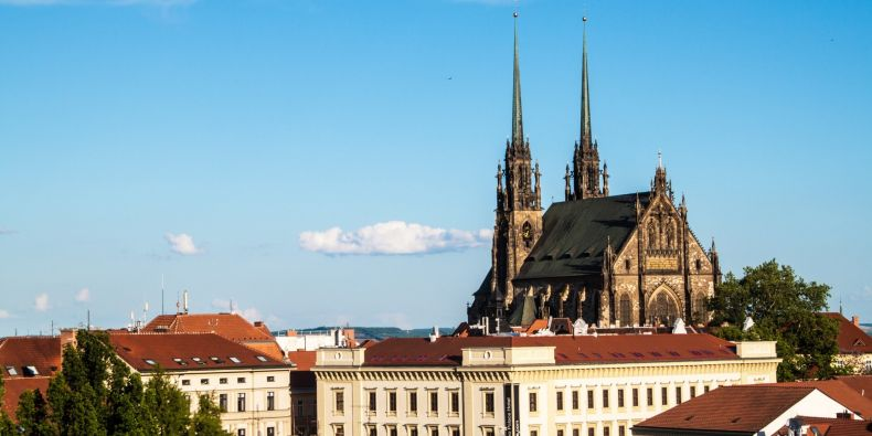 View of the St, Peter and Paul cathedral in Brno.