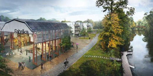 Nábřeží Svratky podle vítězného návrhu týmu UNIT architekti.