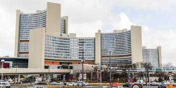 Budova OSN ve Vídni.
