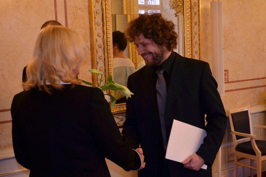 Cenu obdržel molekulární biolog agenetik Vítězslav Bryja. Foto: Petr Čučka.
