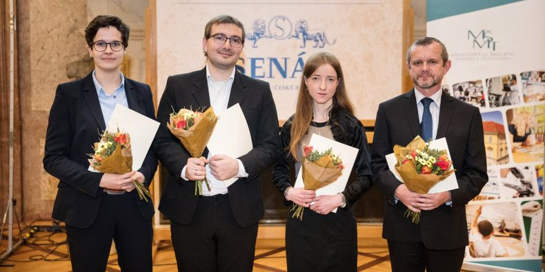 (zleva) Jana Havlová a Ravi José Tristao Ramos, Jaroslava Ježková a Zdeněk Bochníček