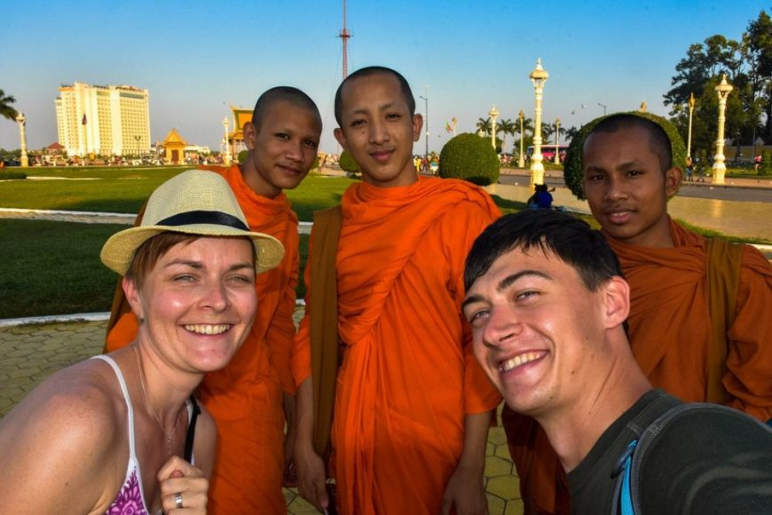 V Kambodži.