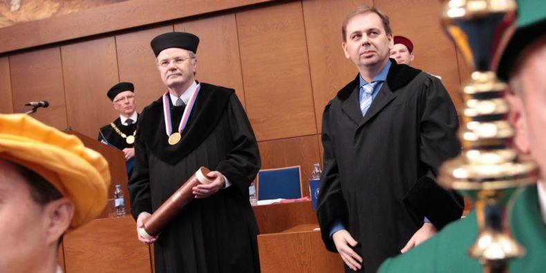 Wolfgang Baumeister a Karel Říha.